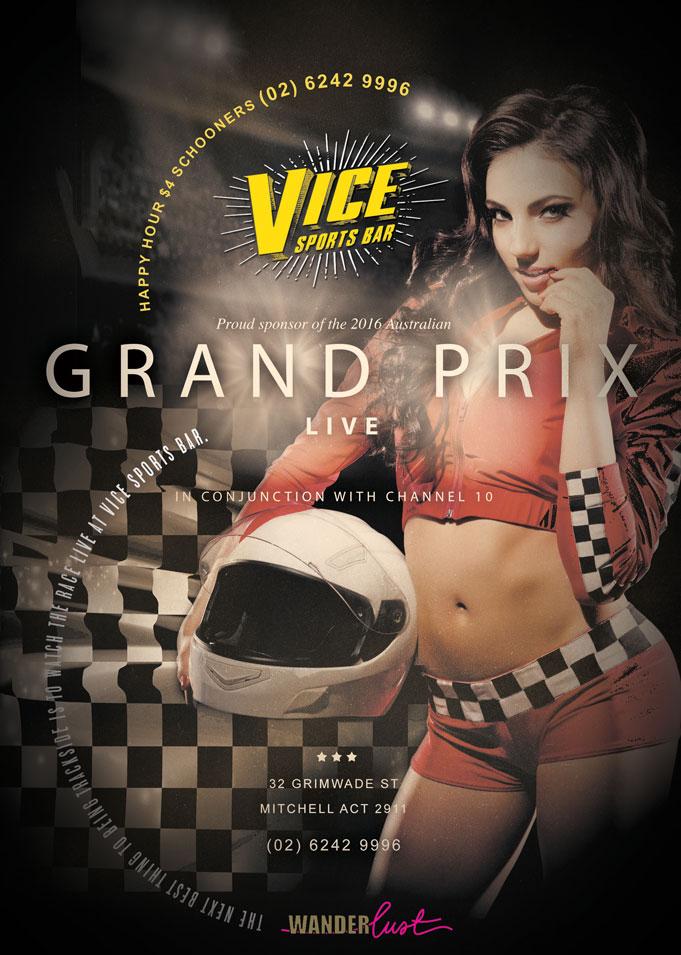 Grand Prix Vice Bar Event